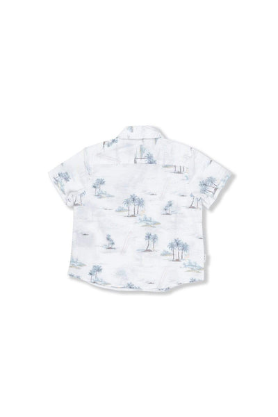 Indie Kids Shirt Hawaiian SS Shirt - Off White
