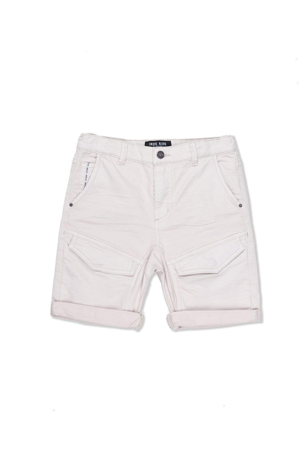 Indie Kids Shorts 8 Styled Drifter Short - Light Stone