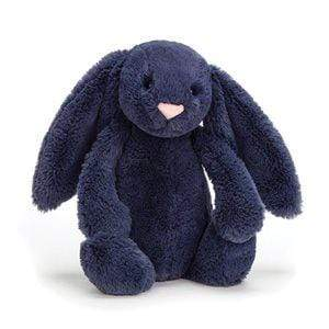 Jelly Cat Soft Toys Bashful Navy Bunny - Medium