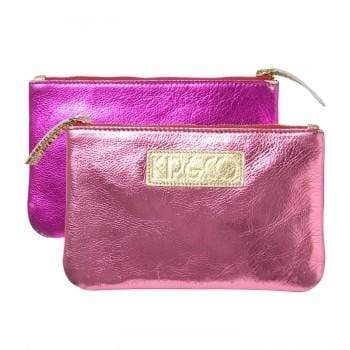 Kip & Co Bags Pinke Foil Kip & Co Costmetic Purse