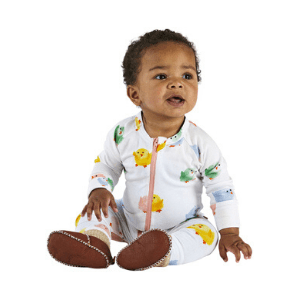 Kip & Co Rompers Chickadee Organic Zip Romper