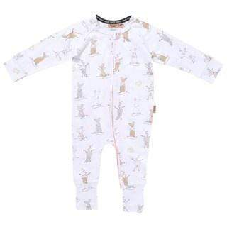 Organic Zip Romper - Mousing Around