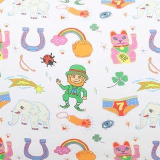 Kip & Co Sheets Cotton Fitted Cot Sheet - Lucky