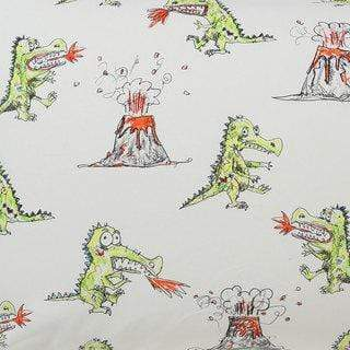 Kip & Co Fitted Cot Sheet - Dino Roar