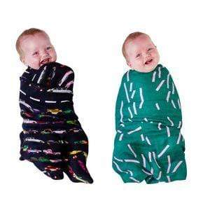 Kip & Co Wraps Speed racer\Dash Emerald Kip and Co Swaddle Set