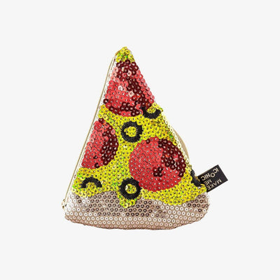 Make me Iconic Wooden Toys Pizza Make Me Iconic Sequin Purse