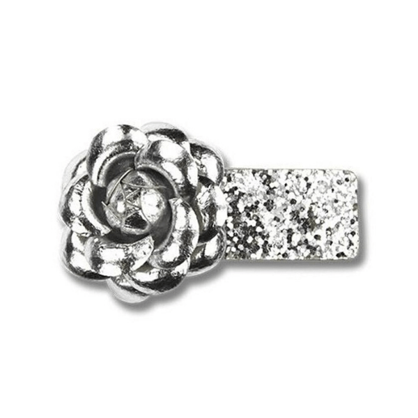 Milk & Soda Hair Clips FLOWER SNAP CLIP (SILVER)