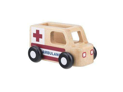 Moover Wooden Toys Ambulance Mini Cars