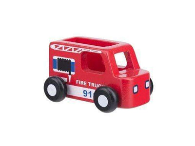 Moover Wooden Toys Fire Truck Mini Cars