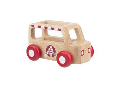 Moover Wooden Toys Ice Cream Van Mini Cars