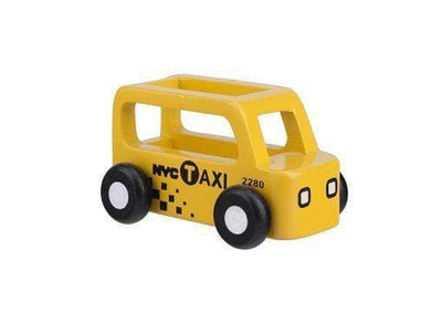 Moover Wooden Toys Taxi Mini Cars