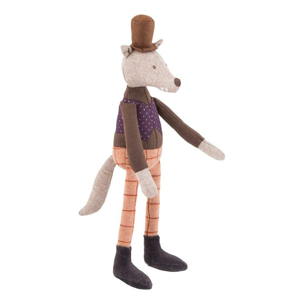 Moulin Roty Soft Toys Moulin Roty Mini Gentleman Wolf