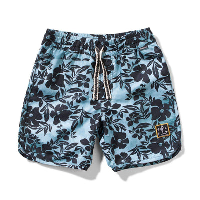 Munster Shorts 3 Skull Biscus Boardshort -  Pale Blue
