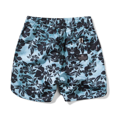 Munster Shorts Skull Biscus Boardshort -  Pale Blue