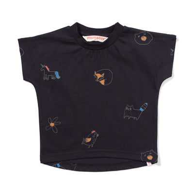 Munster T Shirt 0-3m Lil Missie Munster Collie Soft Black