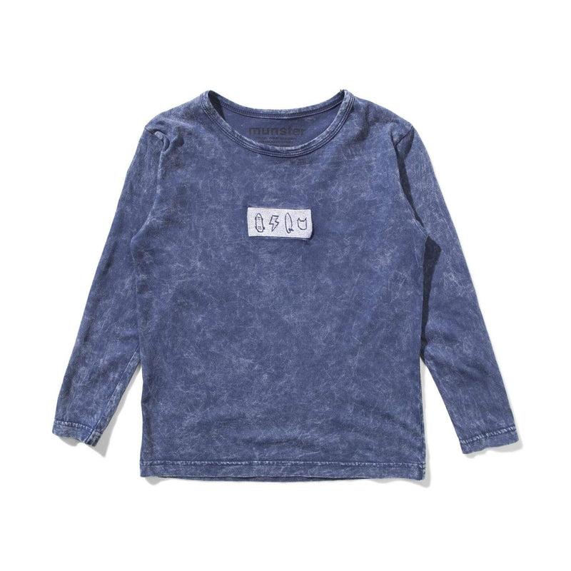 Munster T Shirt 4 Life LS Tee - Denim