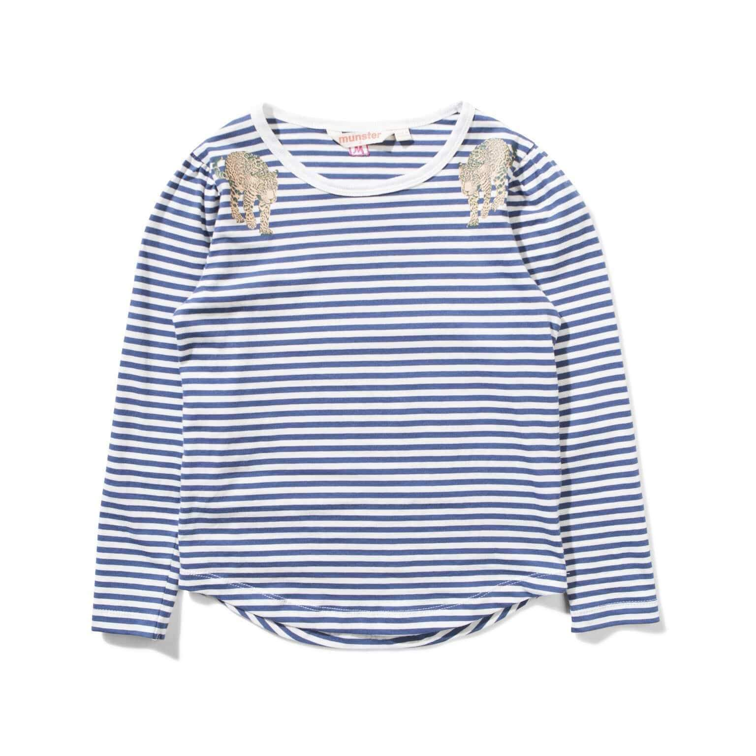 Isabelle LS Tee - Navy / White