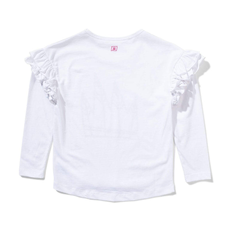 Munster T Shirt Romy LS Tee - White