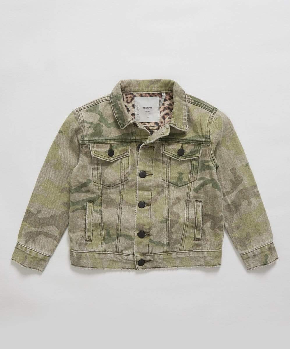 Oneteaspoon Safari Camo Trucker Jacket