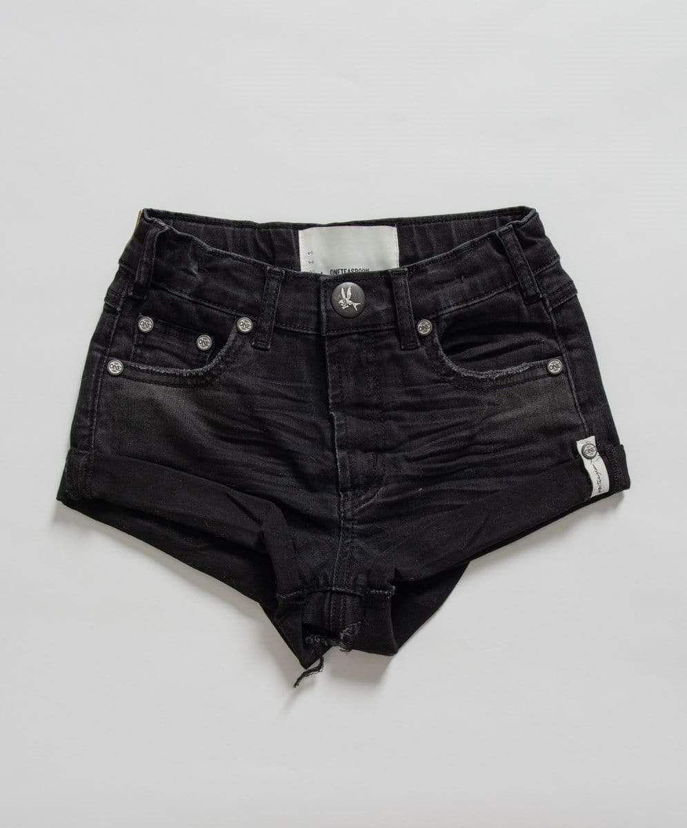 Bandits High Waisted Denim Short - Black Punk