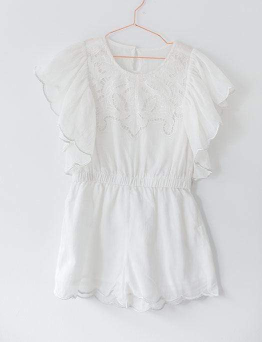 Petite Amalie Playsuit & Jumpsuit 4 Butterfly Jumpsuit - White