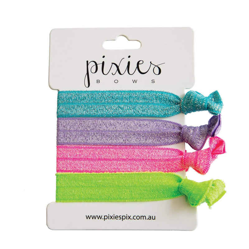 Pixies Bows Hair Ties Pixies Bows Hair Tie Set - Neon Starburst