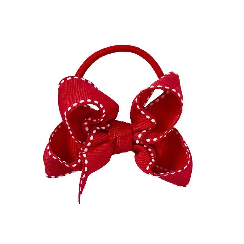 Pixies Bows Hair Ties Pixies Bows Small + Elastic Bow - Crimson