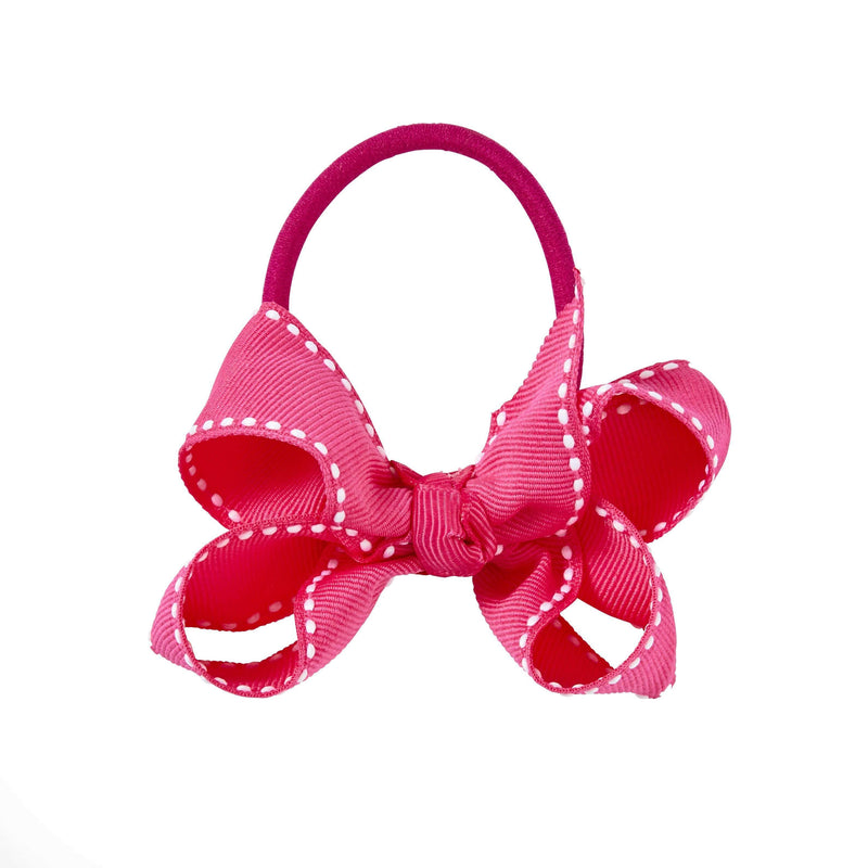 Pixies Bows Hair Ties Pixies Bows Small + Elastic Bow - Fuchsia