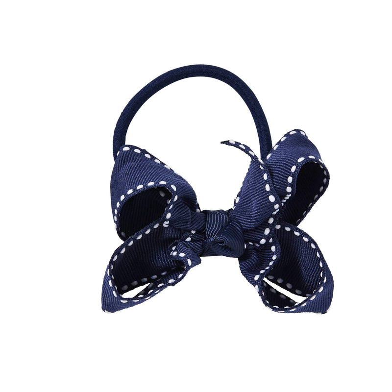 Pixies Bows Hair Ties Pixies Bows Small + Elastic Bow - Navy