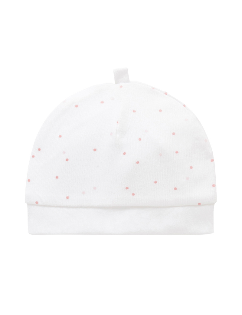 Pure Baby Beanies 3KG Pre-mature Hat - Pale Pink Spot