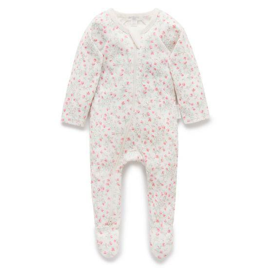 Pure Baby Rompers 00 / Winter Rose Pure Baby Zip Growsuit