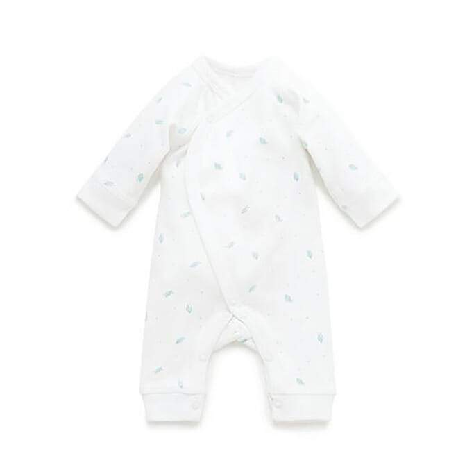 Pure Baby Rompers 2kg / Pale Grey Leaf Pure Baby Premi Growsuit