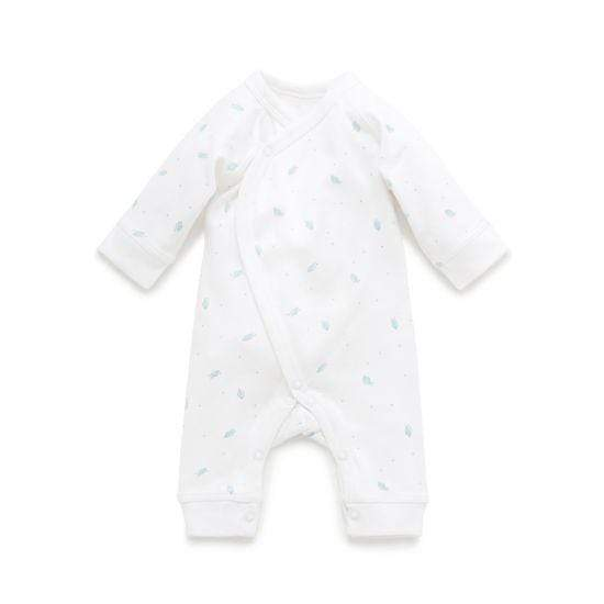 Pure Baby Rompers 2KG Premi Corssover Pale Pink Leaf w Spot