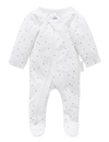 Pure Baby Rompers Premie Zip Growsuit - Pale Blue Spot