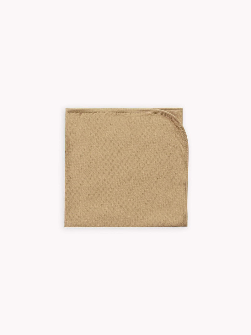 Pointelle Baby Blanket - Honey