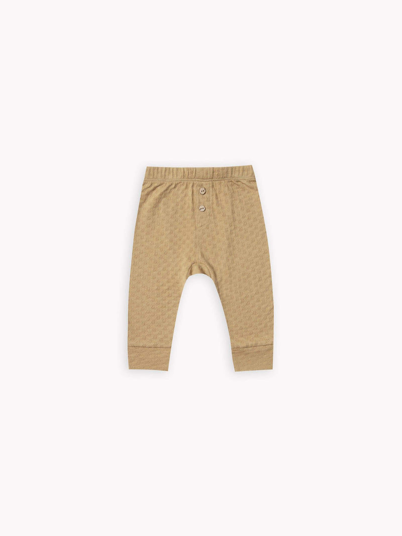 Quincy Mae Leggings 3-6M Pointelle Pyjama Pant - Honey