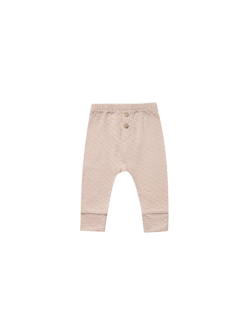 Quincy Mae Leggings 3-6M Quincy Mae Pointelle Pyjama Pant - Rose