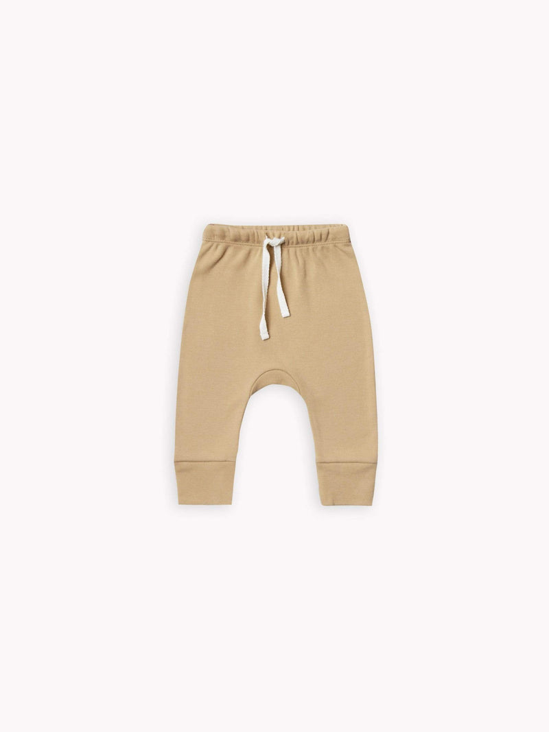 Quincy Mae Pants 0-3M Drawstring Pant - Honey