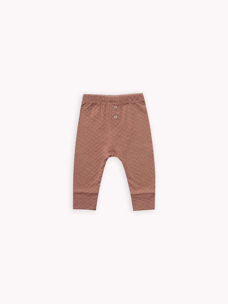 Quincy Mae Pants 0-3M Pointelle Pyjama Pant - Clay