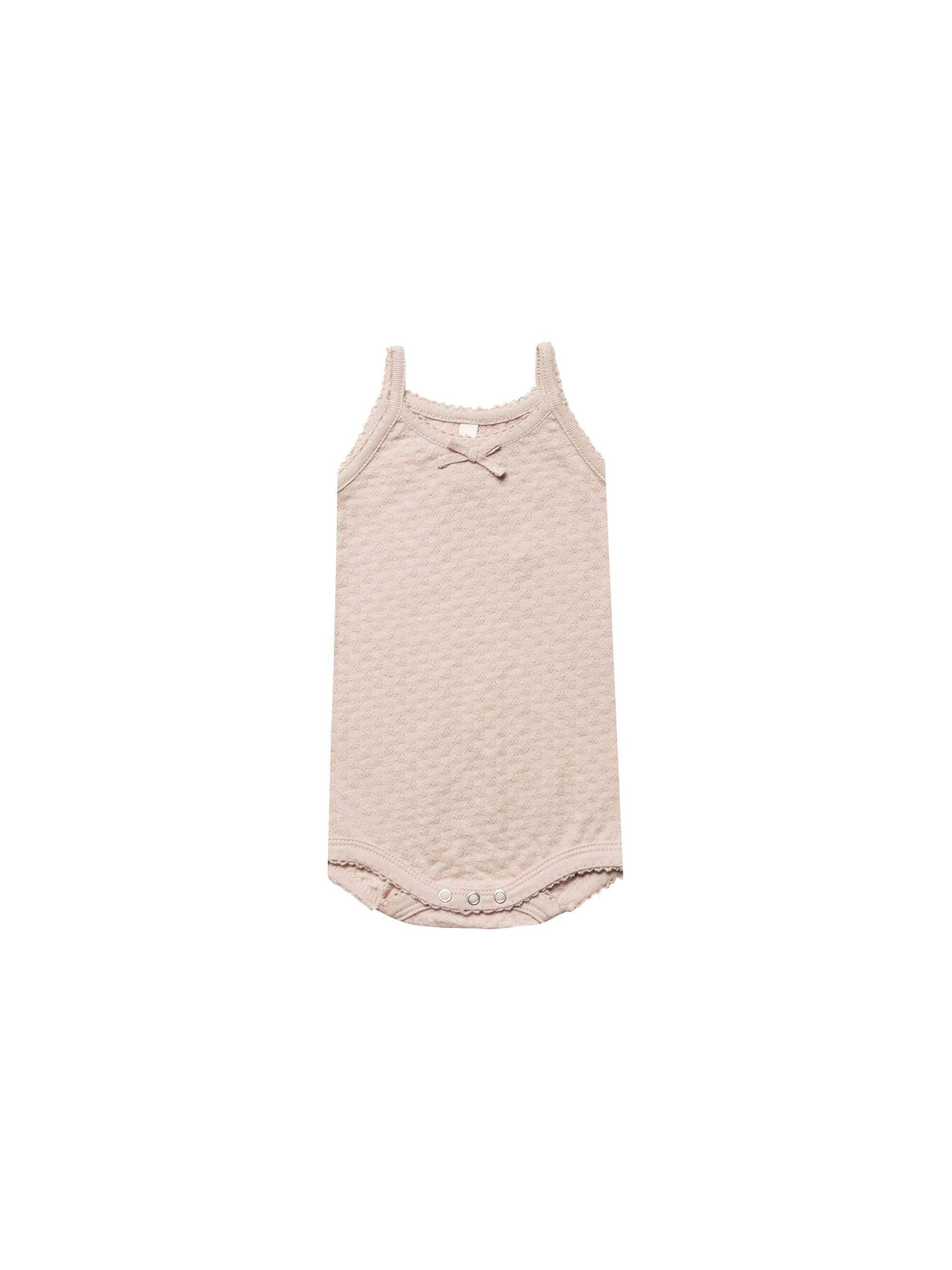 Quincy Mae Rompers 0-3 / Rose Quincy Mae Pointelle Onesie Tank