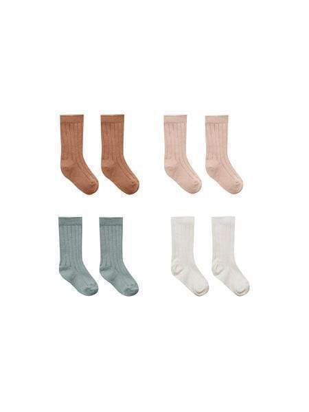 Baby socks (fog, ocre, natural, moss) - 4pk