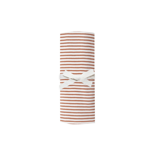 Quincy Mae Wraps Baby Swaddle - Rust Stripe
