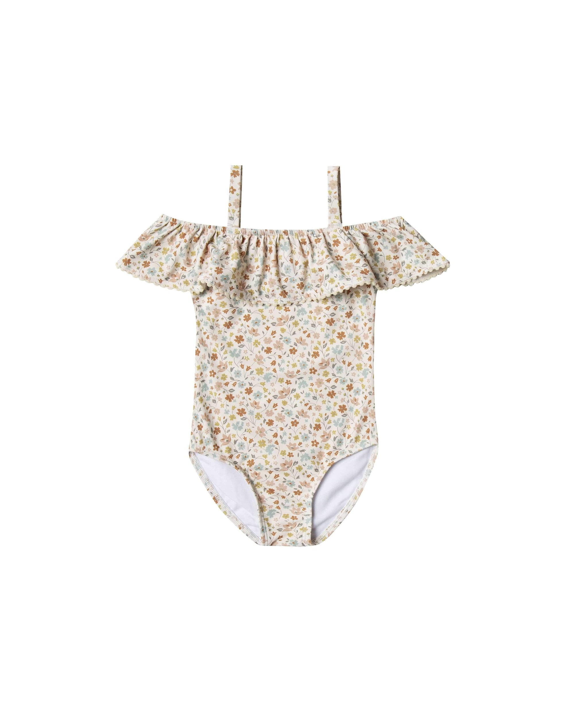 Rylee & Cru 1 Piece Swimsuit Flower Field One-piece - Natural