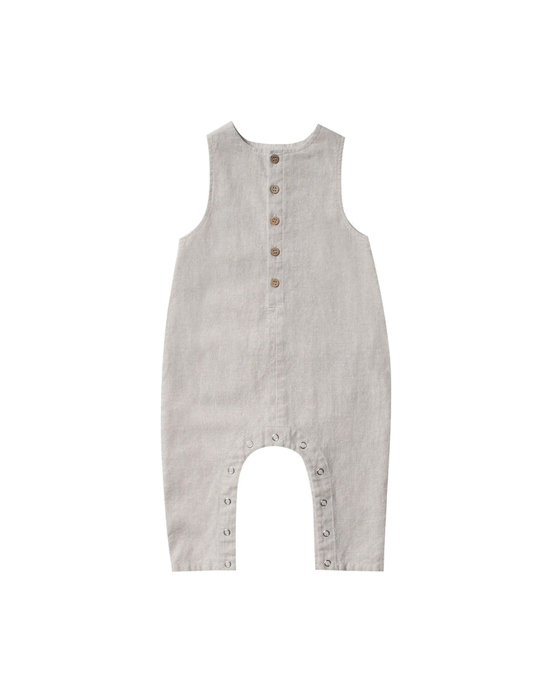 Rylee & Cru Pants Button Jumpsuit - Silver