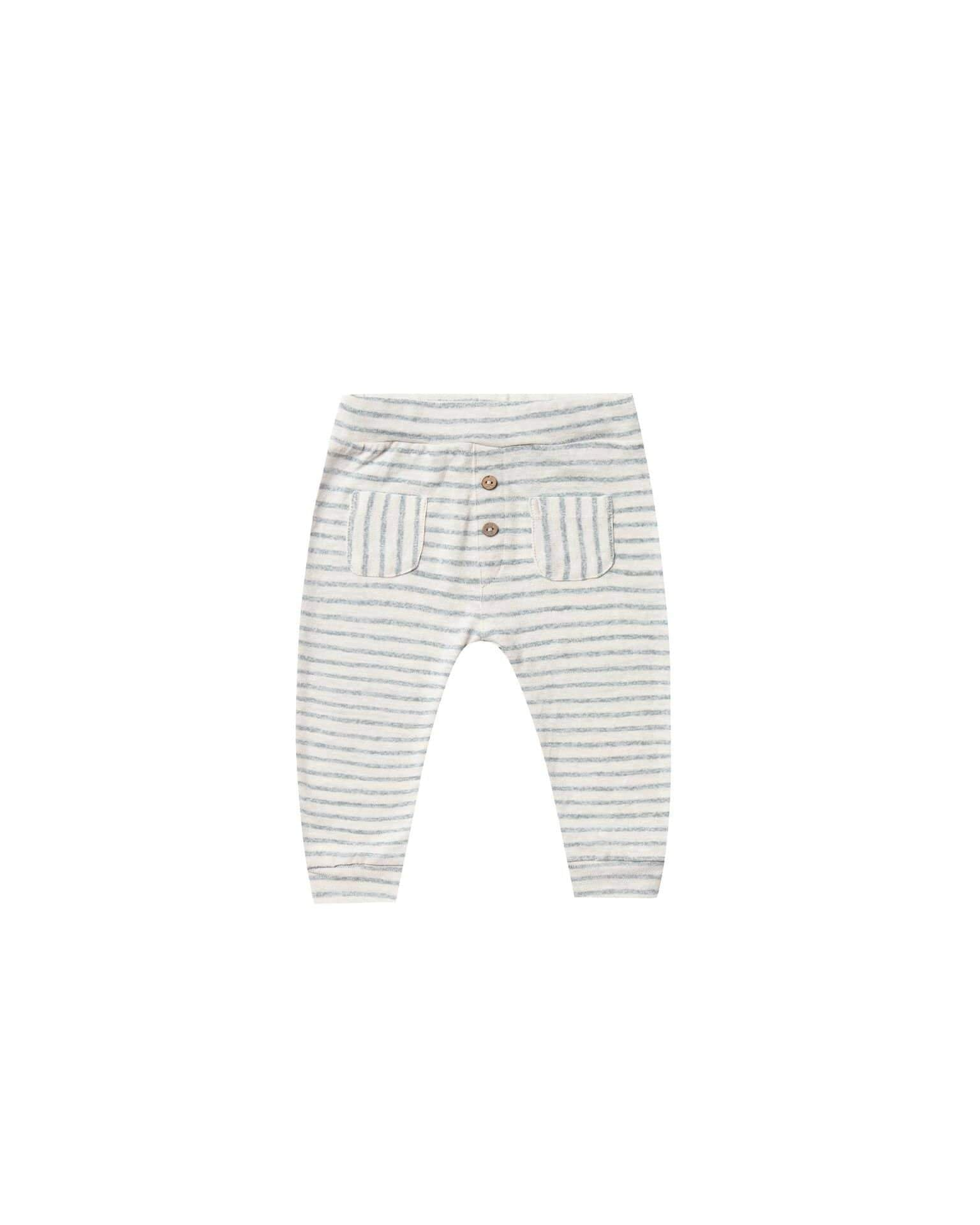 Rylee & Cru Pants Stripe Baby Pant - Sea