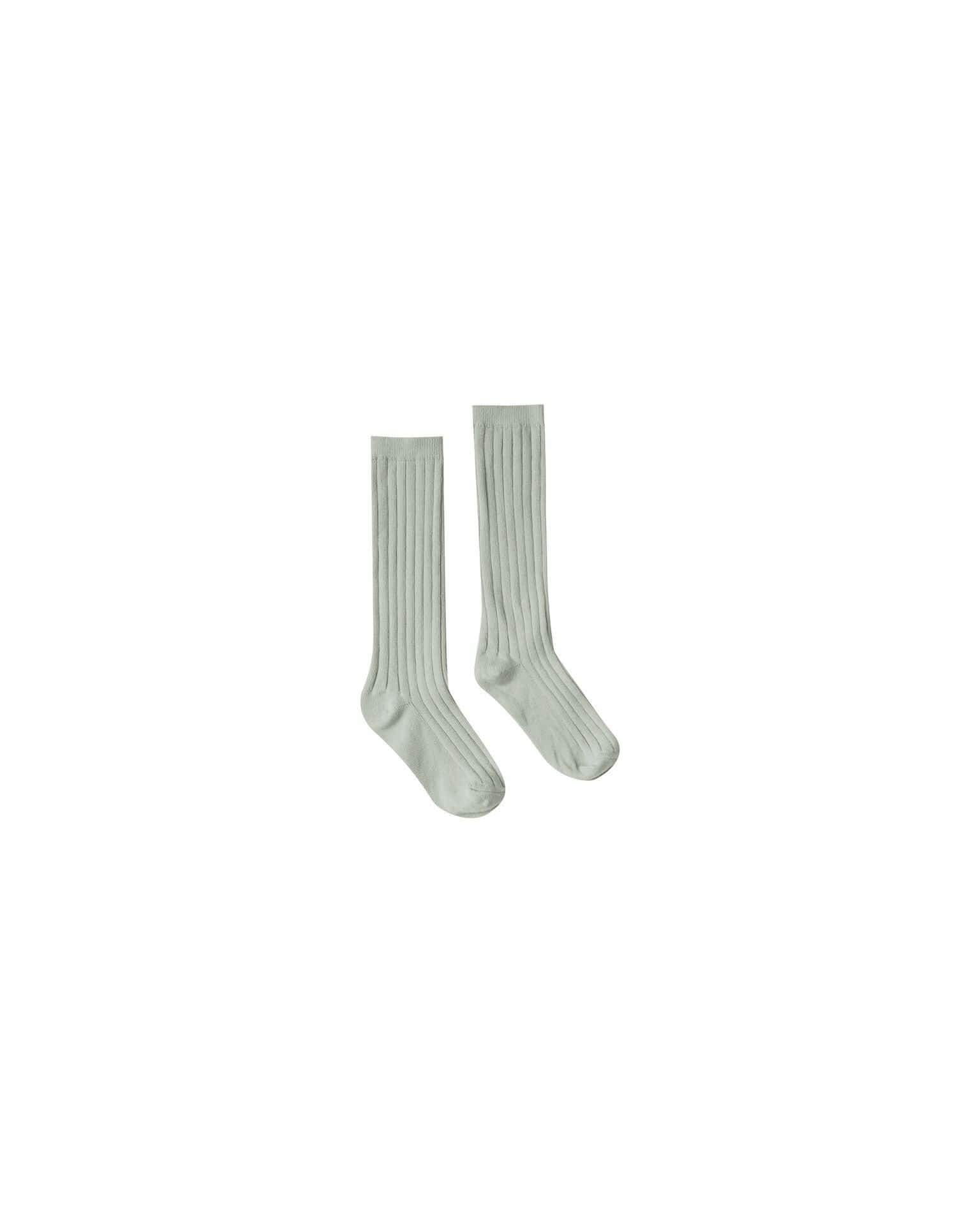 Rylee & Cru Socks Solid Ribbed Socks - Seaform