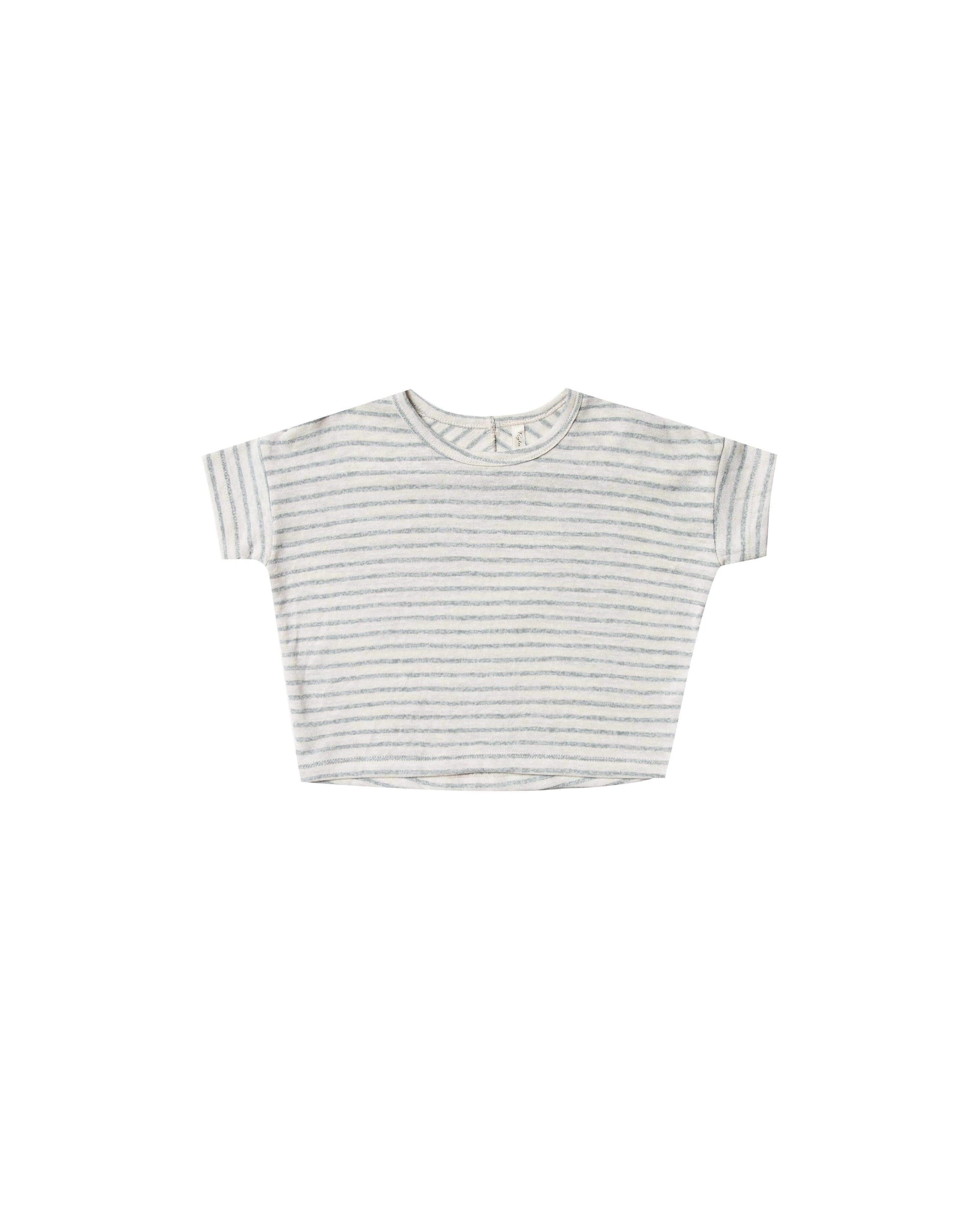 Rylee & Cru T Shirt Stripe Boxy Tee - Sea