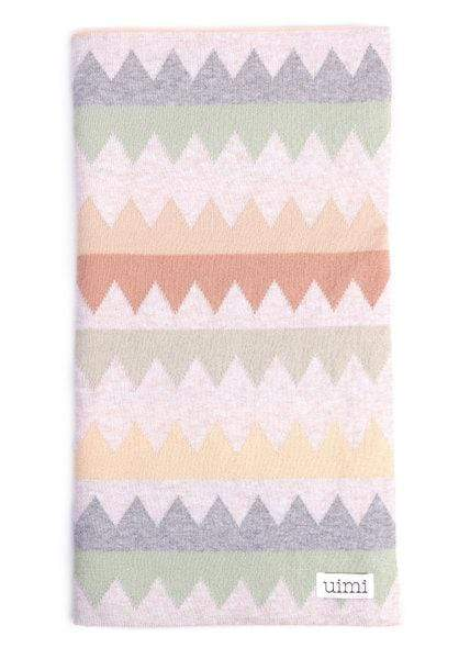 Uimi Blankets Tea Uimi Teeth Double Sided Jagged Blanket