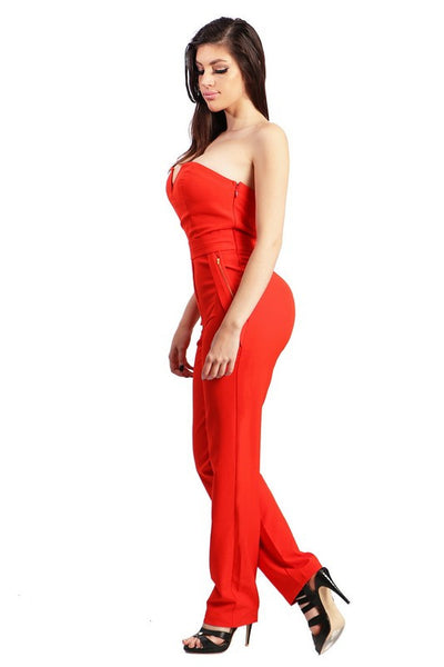 Tammi red strapless jumper