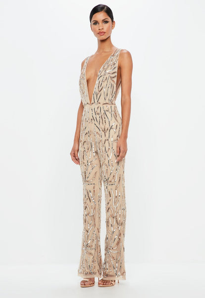Shay sequin bead jumpsuit